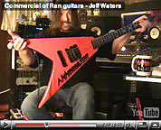 Commercial of Ran Guitars - Jeff Waters with Invader - video